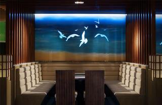 个性化艺术餐厅设计背景墙图片