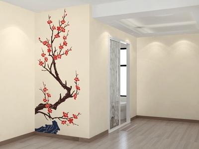 净卫士硅藻泥 走廊背景墙系列【图片