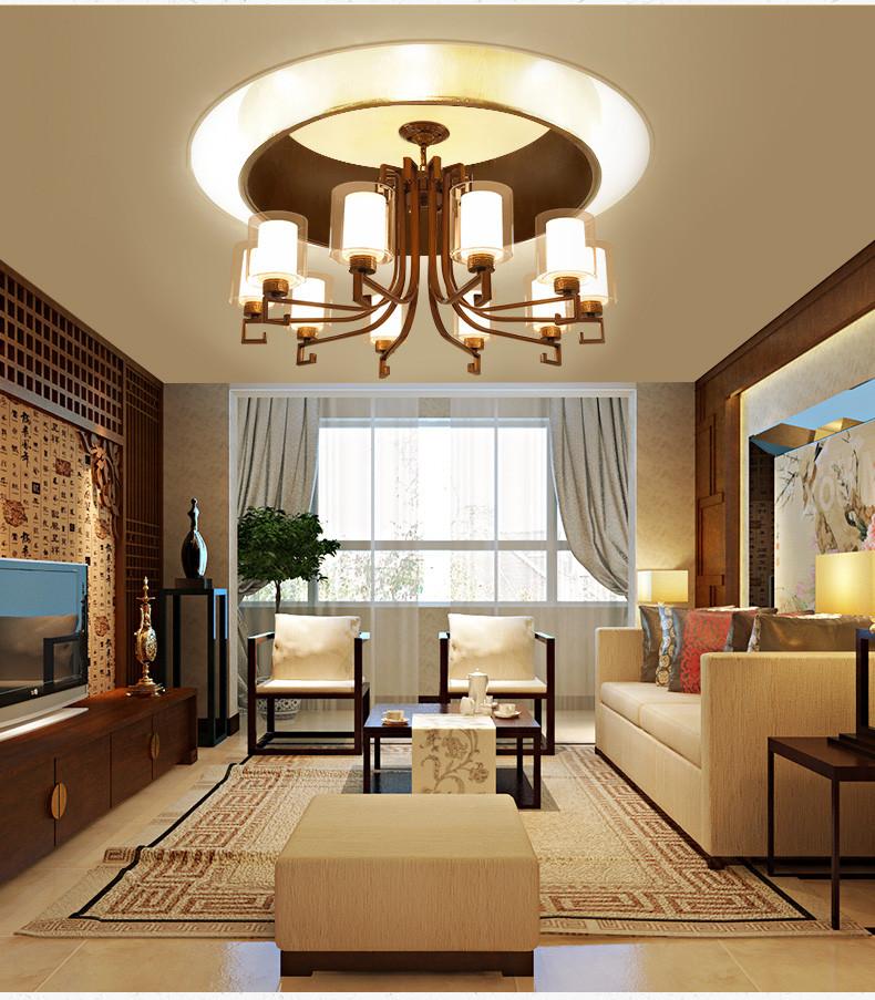 新中式吊灯古典客厅灯酒店工程复古书房餐厅灯现代简约卧室灯具
