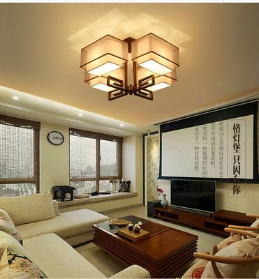 現代新中式吸頂燈客廳長方形中式吊燈飾簡約書房臥室