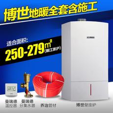上海水地暖进口博世锅炉乔弗地暖管曼瑞德绿羽全套安装250-279平