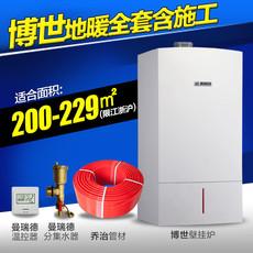 上海水地暖进口博世锅炉乔弗地暖管曼瑞德绿羽全套安装200-229平