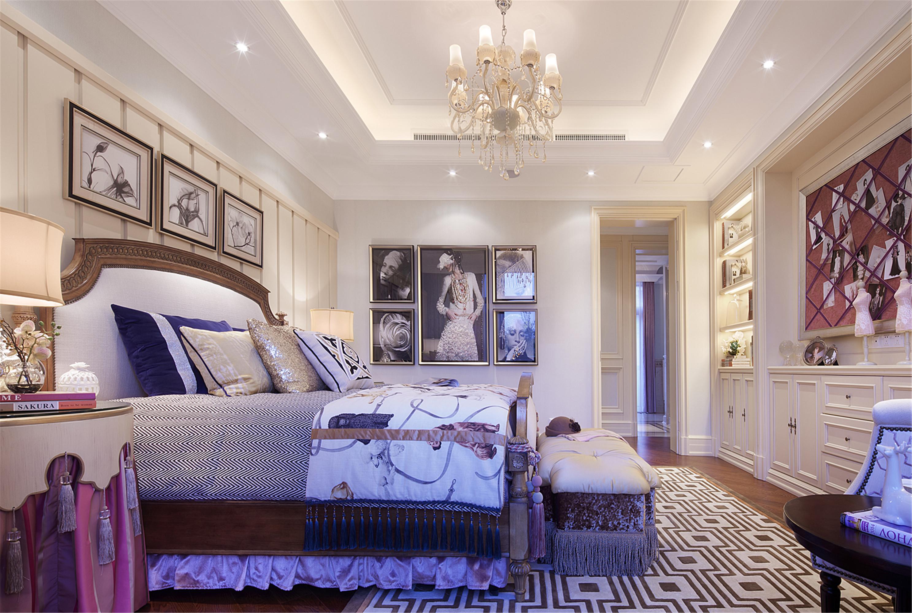 欧式精致奢华别墅装修卧室搭配图