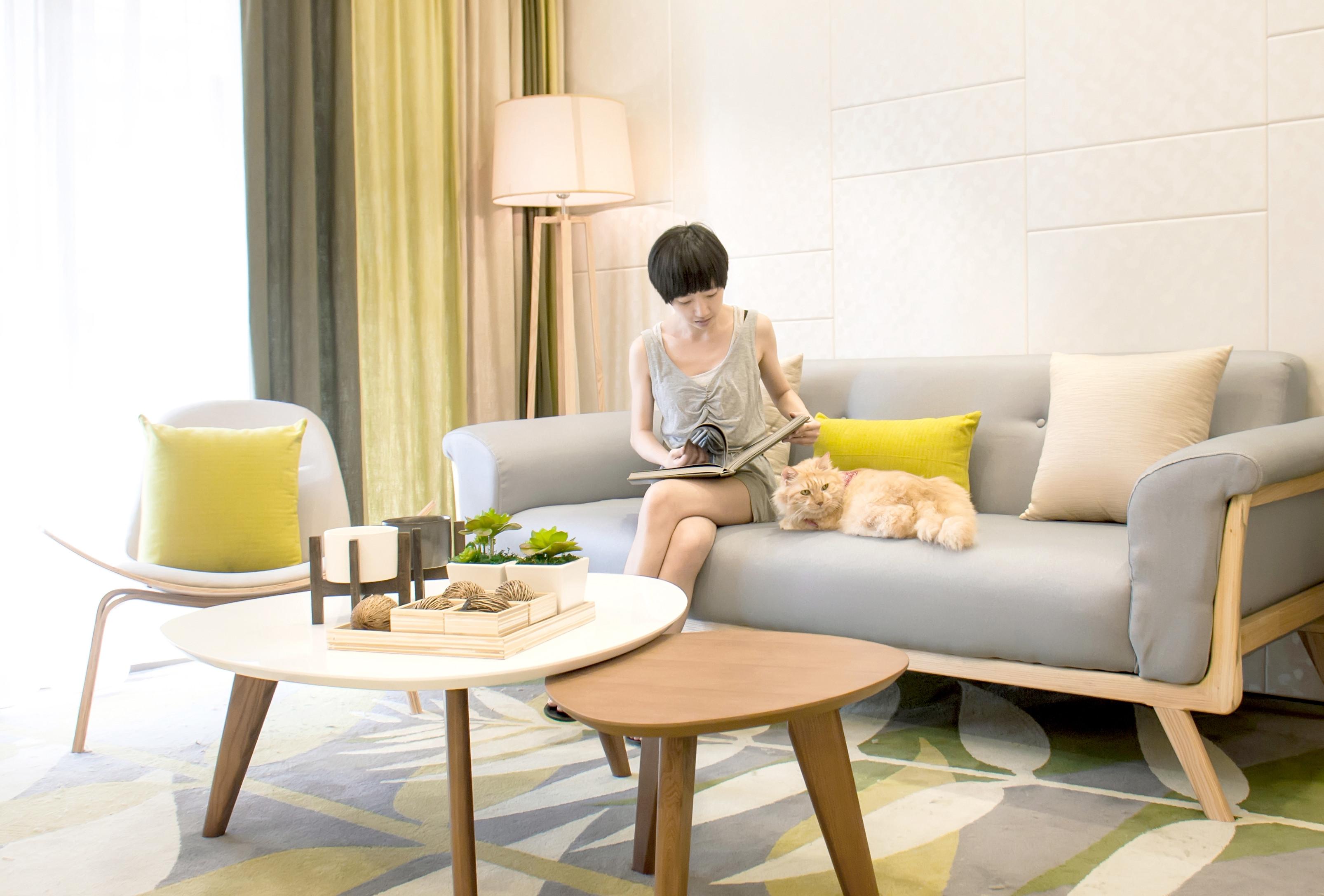 72平北欧风格家沙发图片