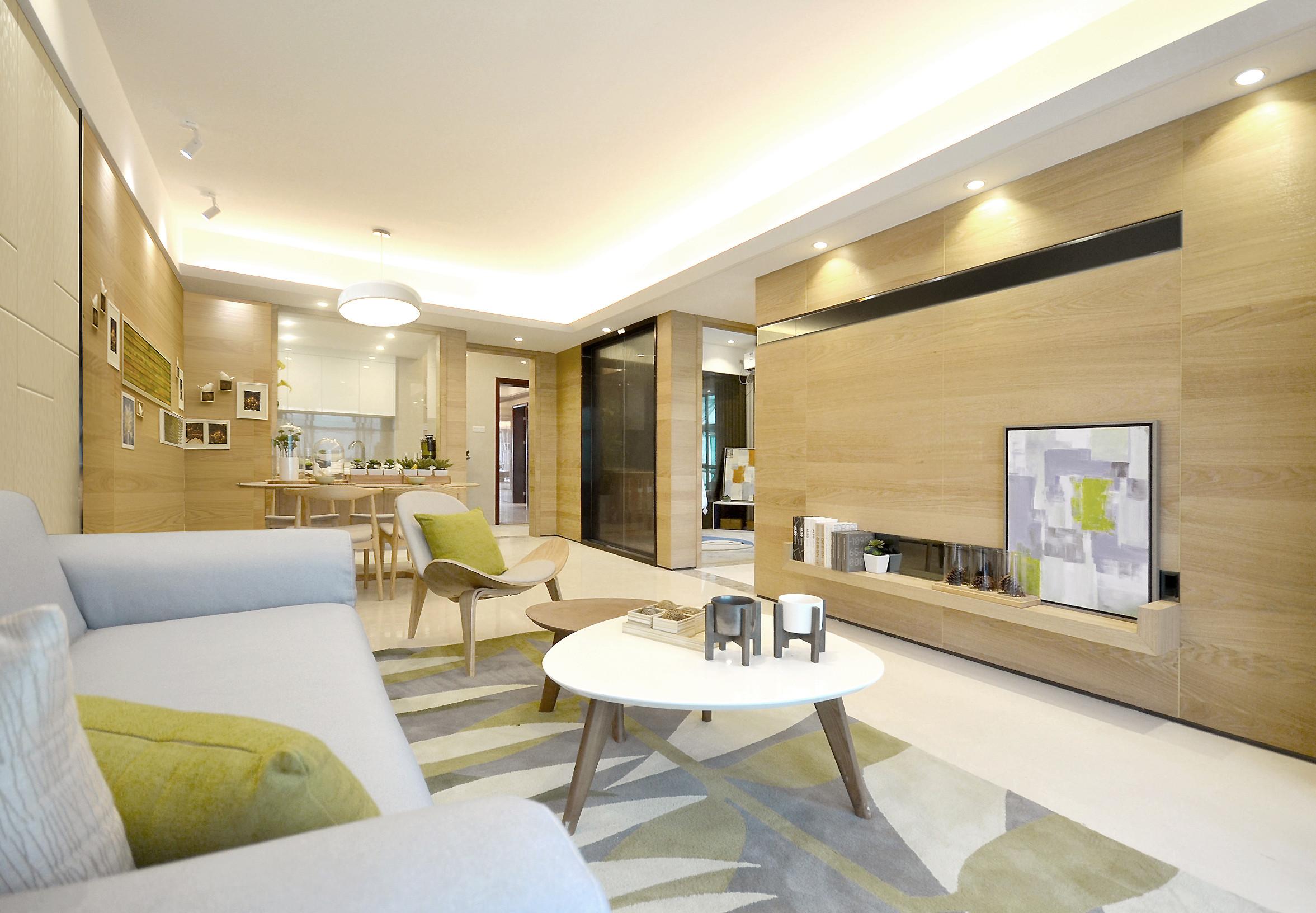 72平北欧风格家客厅设计图