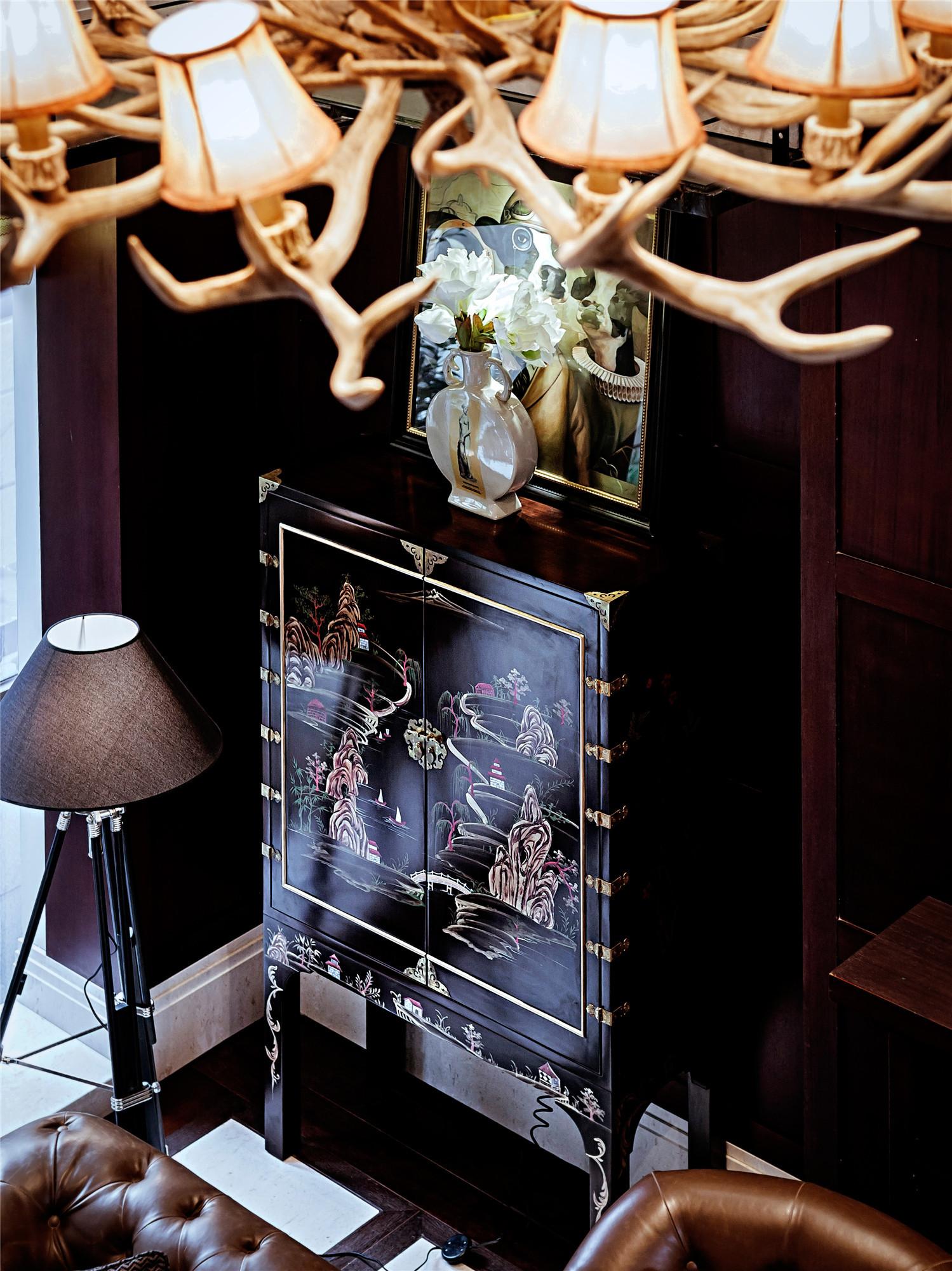 法式别墅装修设计装饰柜图片
