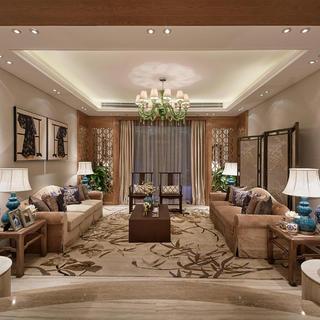 中式别墅装修效果图 风雅之美