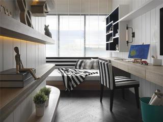 现代简约三居装修书房设计图