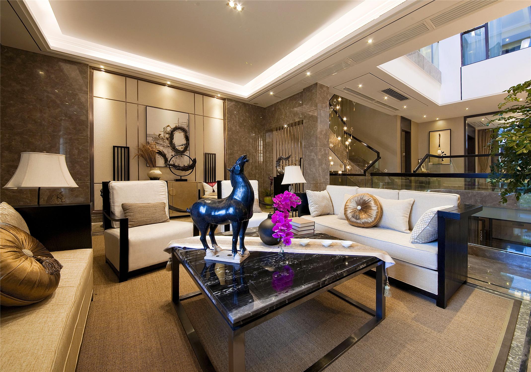 别墅混搭装修客厅效果图