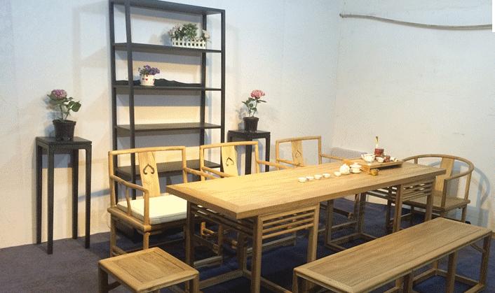 免漆茶桌 禅意茶台 现代中式家具茶水桌 茶室桌 茶桌椅组合