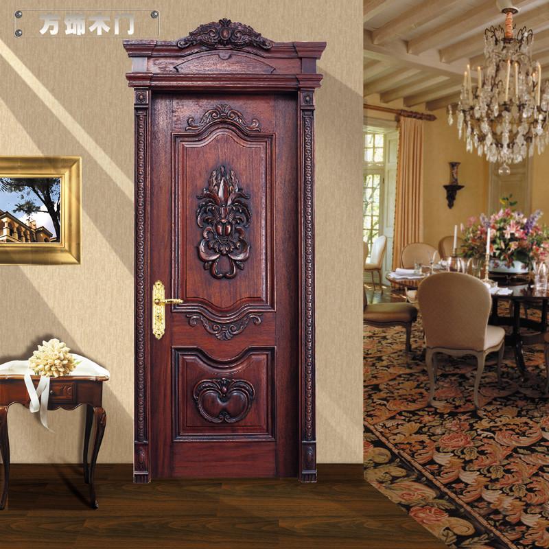 方饰木门 室内门 房门 纯实木原木套装门 欧式雕花系列 fx-004