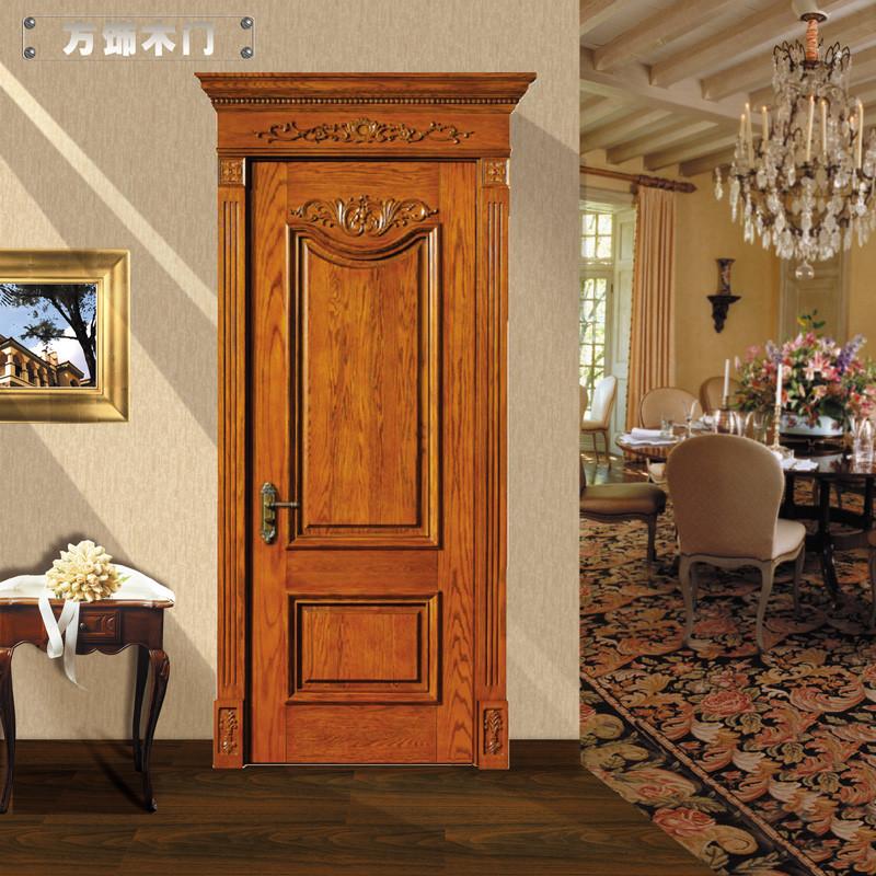 方饰木门 室内门 房门 纯实木原木套装门 欧式雕花系列 fx-001