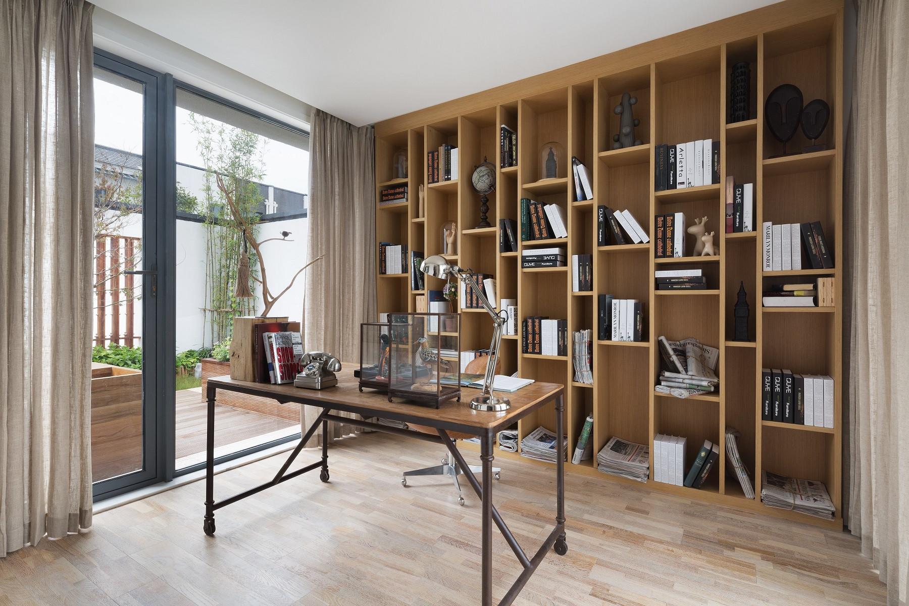 北欧风别墅装修书房设计图