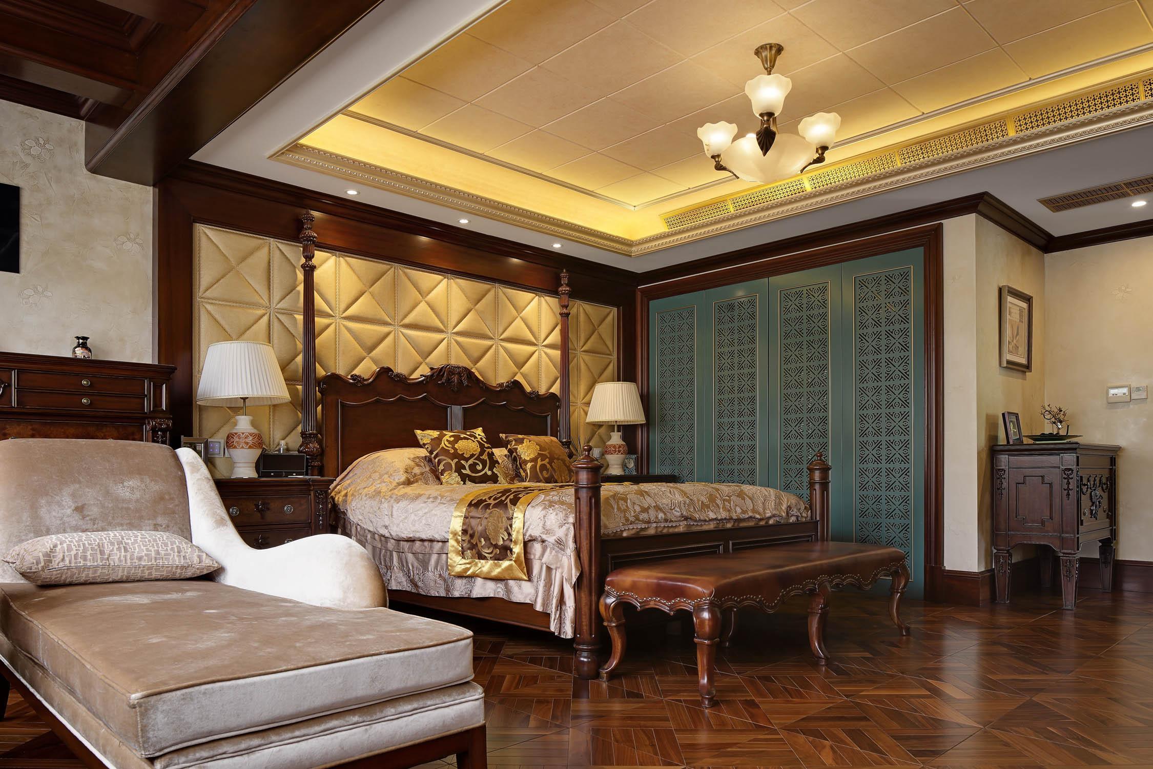 美式别墅装修卧室布局图