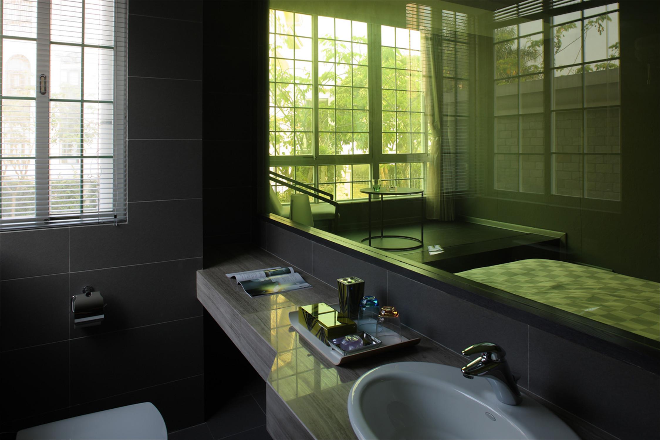 公寓式精品酒店装修洗手台图片