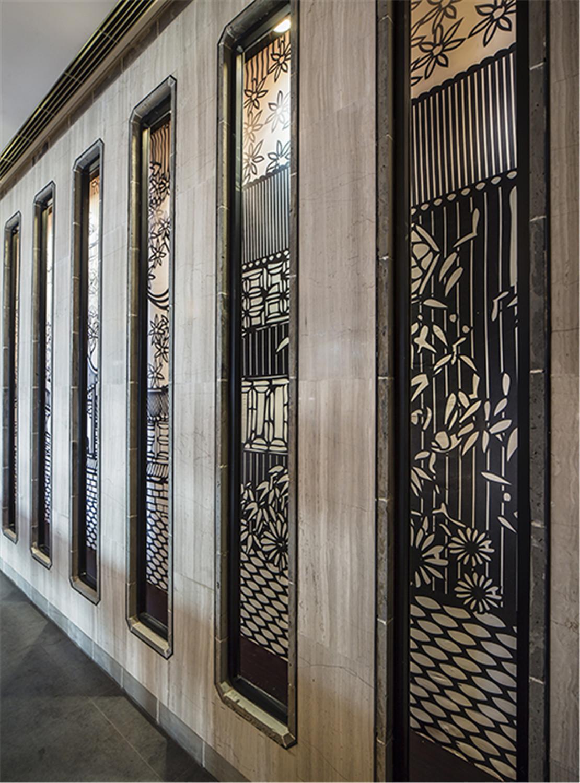 酒楼装修玄关装饰设计
