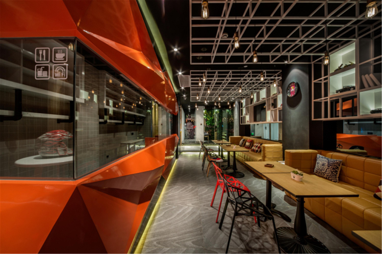 创意精品酒店装修咖啡厅吊顶设计