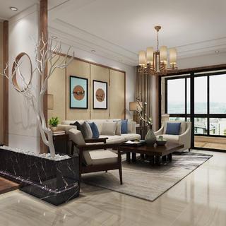 中式三居装修效果图 禅意空间