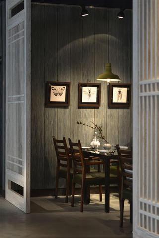 中式禅意餐厅装修餐厅背景墙图片