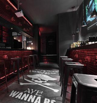 酒吧餐饮空间装修地面装饰设计