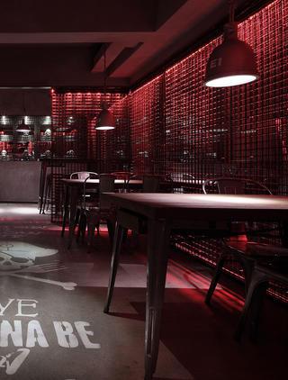 酒吧餐饮空间装修餐桌图片