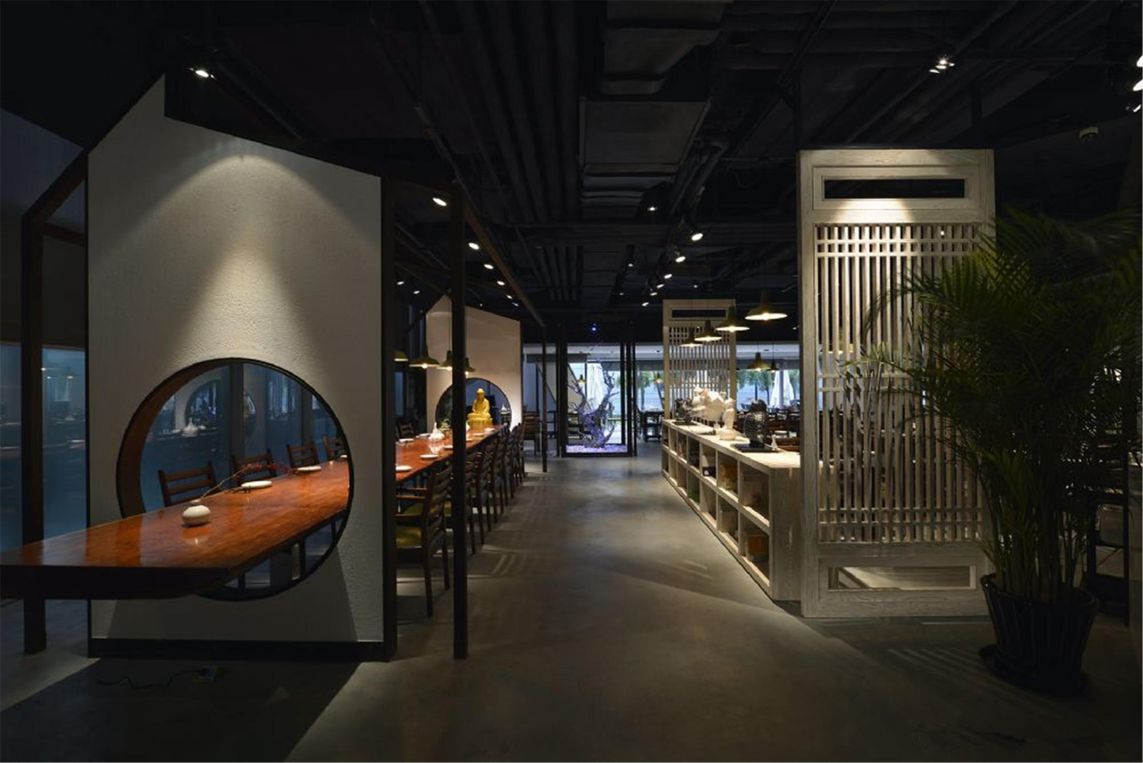 中式禅意餐厅装修过道图片