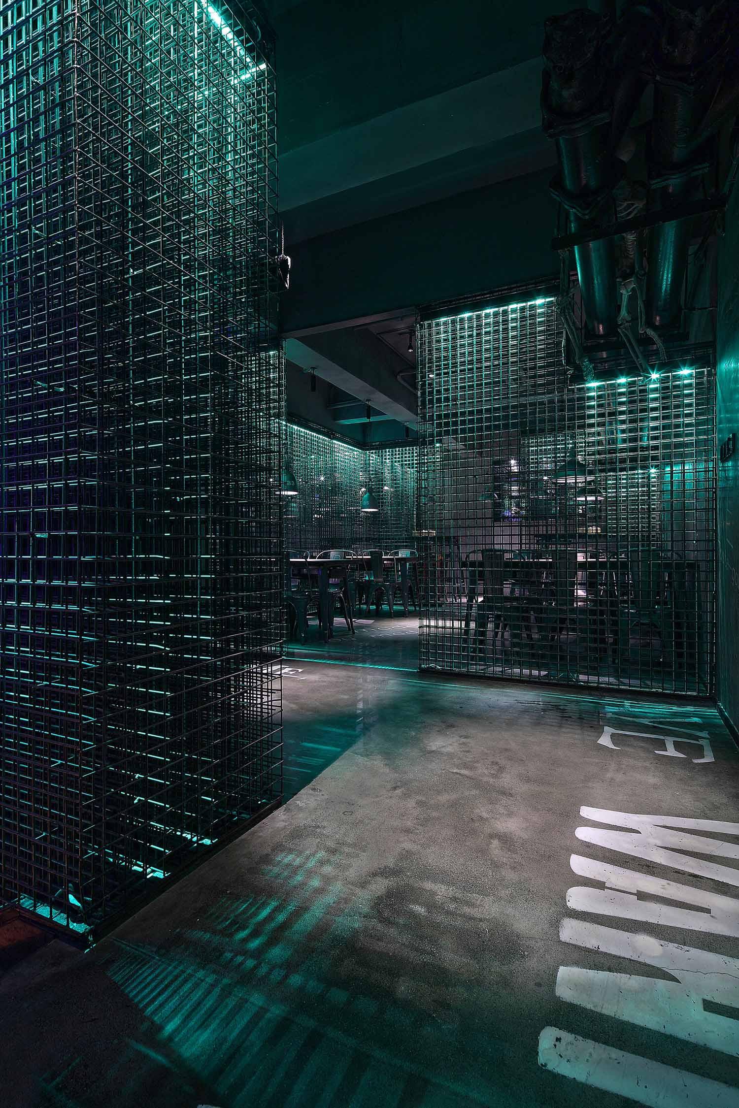 酒吧餐饮空间装修二层空间设计