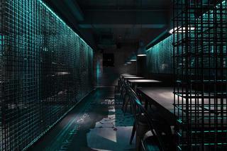 酒吧餐饮空间装修过道图片