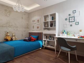美式三居装修儿童房设计图
