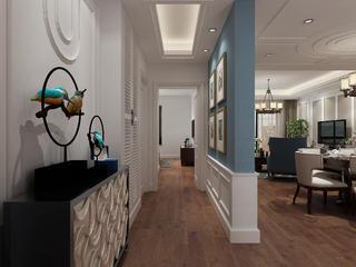 美式三居装修玄关走廊