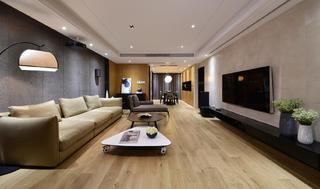 大户型简约中式装修客厅设计图