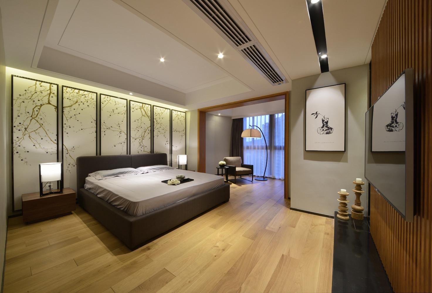 大户型简约中式装修卧室搭配图