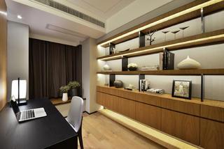 大户型简约中式装修书房设计图