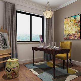 美式三居装修效果图 细腻简洁