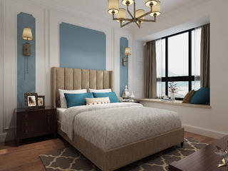 美式三居装修卧室效果图