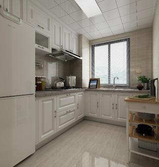 美式三居装修厨房构造图