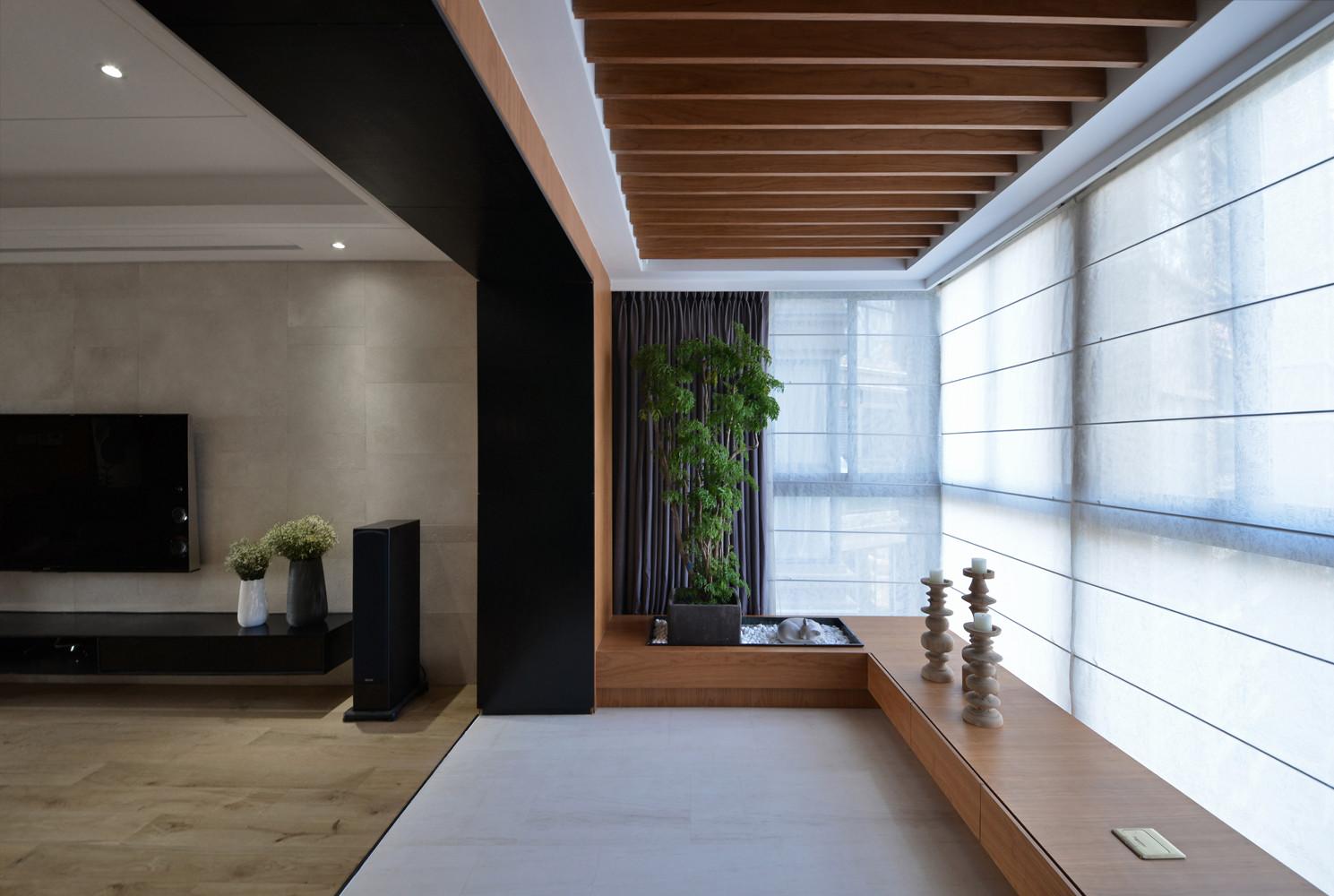 大户型简约中式装修阳台设计