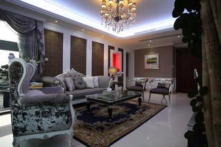 新古典三居装修沙发背景墙图片