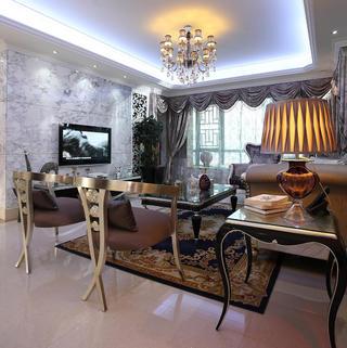 新古典三居装修设计 低调优雅