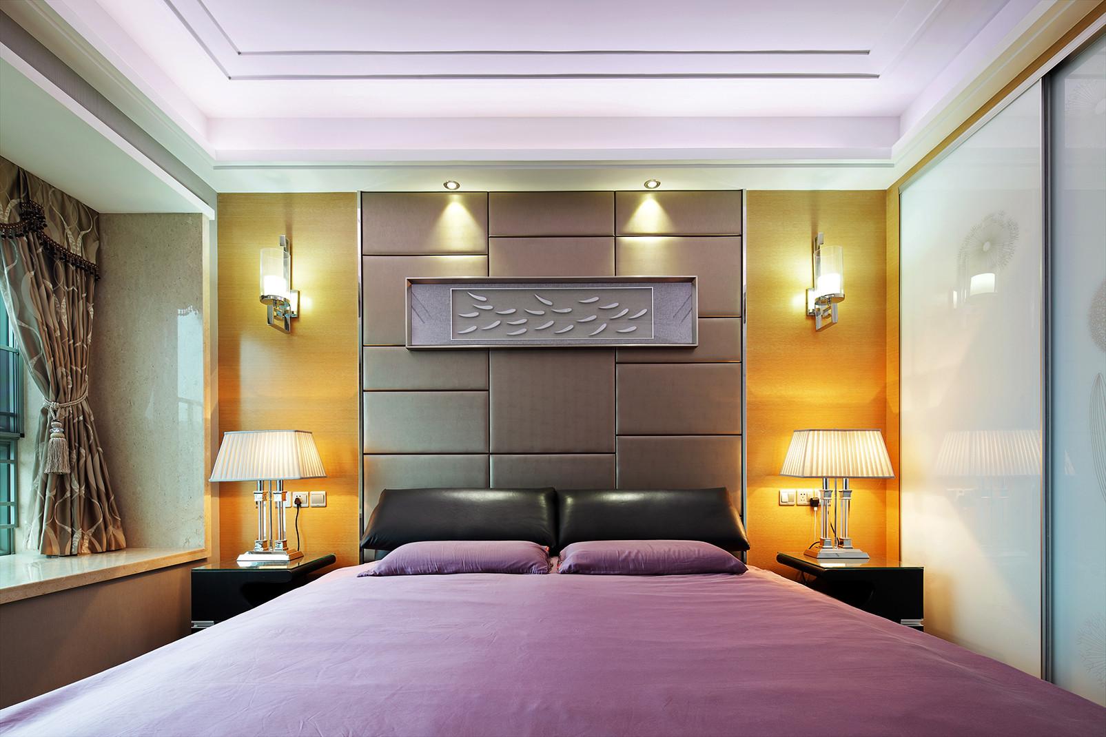 现代都市风格之家床头背景墙图片
