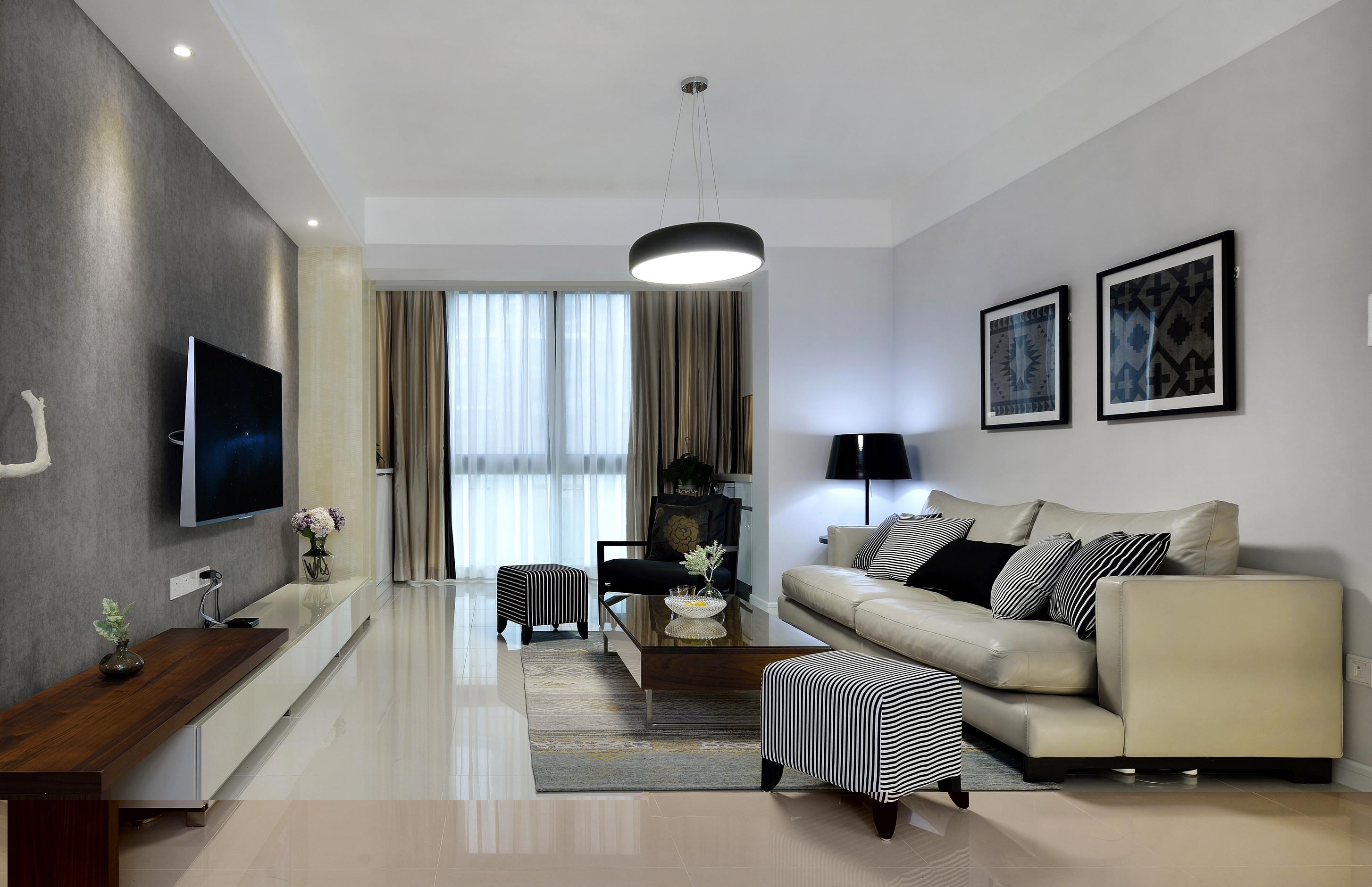 138平现代简约装修客厅设计图