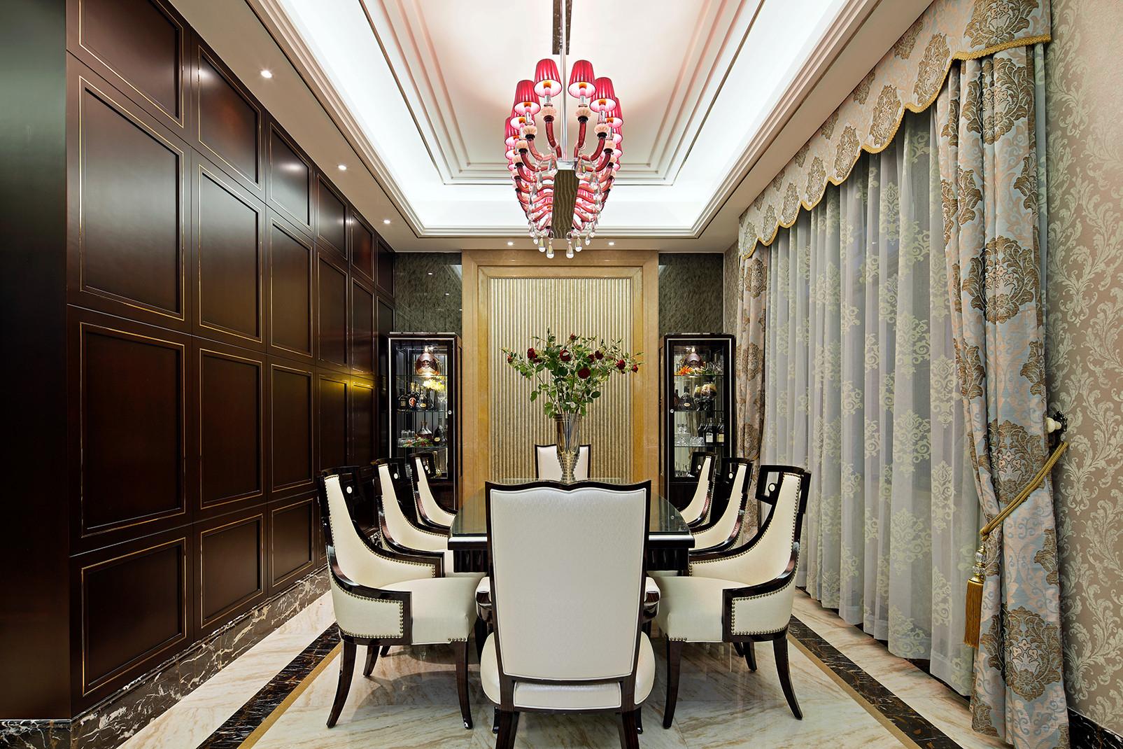 美式别墅装修餐厅效果图