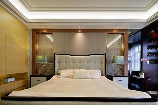 美式别墅装修床头背景墙图片