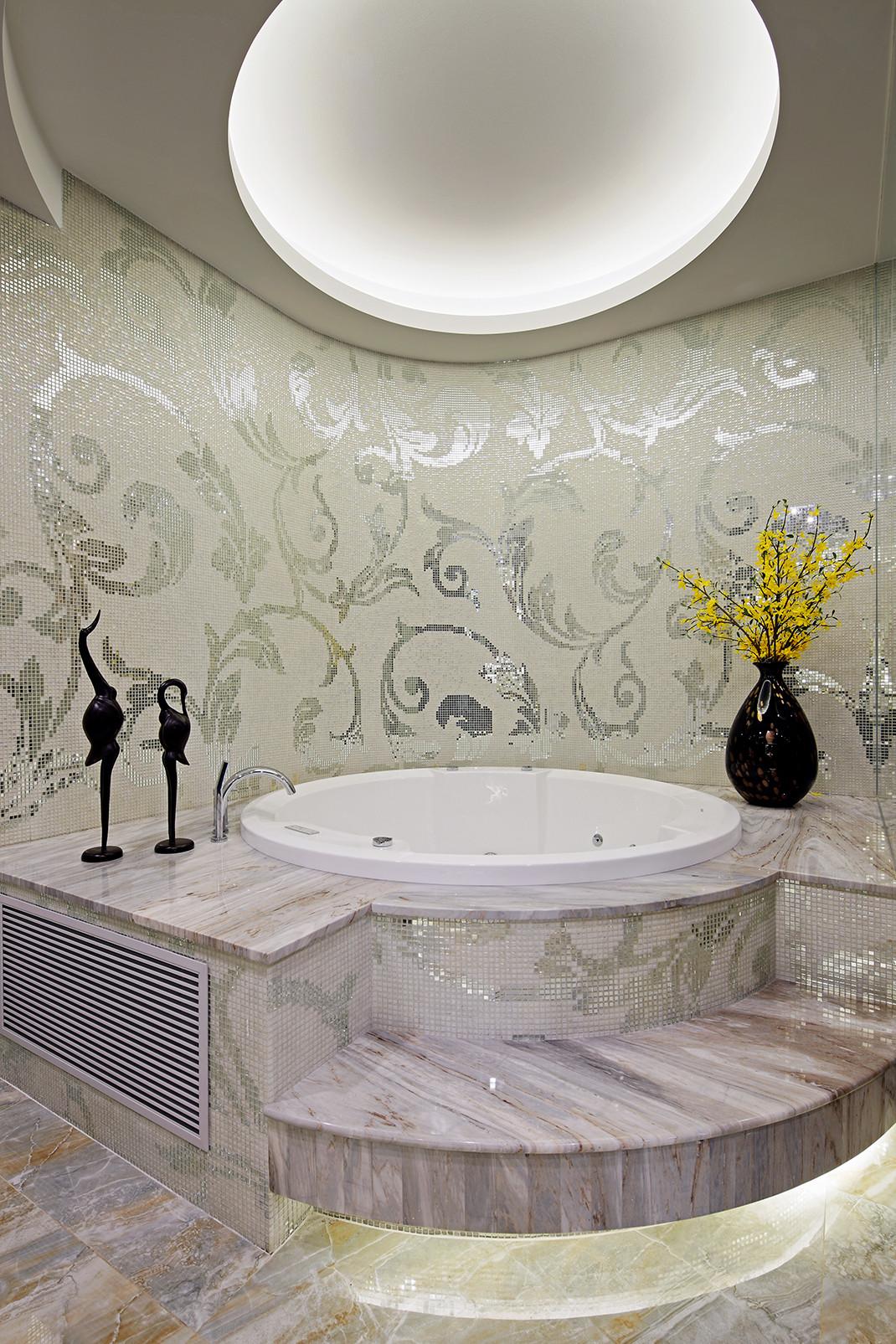 美式别墅装修浴缸图片
