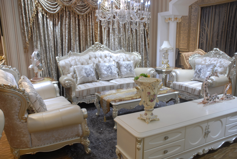 圣米迦系列皮+布沙发H1203
