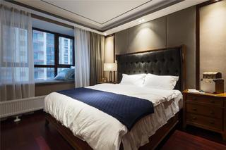 中式三居装修卧室搭配图