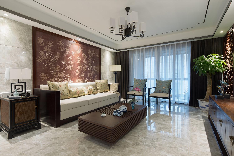 中式三居装修沙发图片