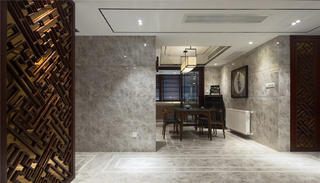 中式三居装修餐厅效果图