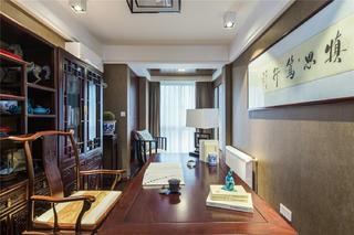 中式三居装修书房设计图