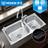 MOEN摩恩 水槽304不锈钢大双槽套装厨房加厚洗菜盆套餐28118+5069+54568|全国包邮(偏远除外)